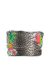 Pilyq Embroidered Lined Bikini Bag