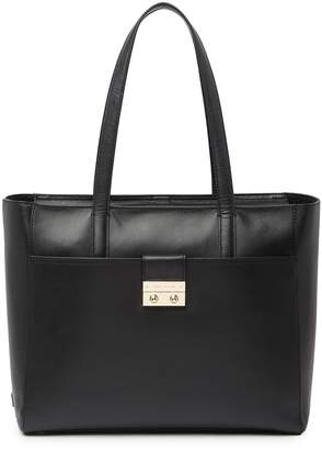 Cole Haan Lock Group Leather Tote Bag