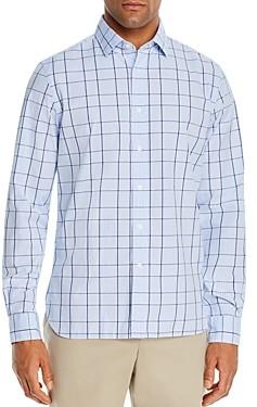 The Men's Store at Bloomingdale's Plaid Cotton-Blend Classic Fit Shirt - 100% Exclusive