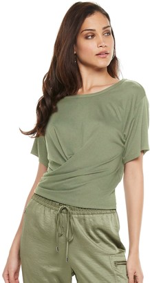 JLO by Jennifer Lopez Women's Ruched-Front Top