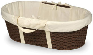 Badger Basket Unisex Wicker-Look Woven Baby Moses Basket With Bedding