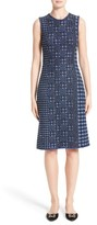 Oscar de la Renta Women's Pixelated Houndstooth Sheath Dress