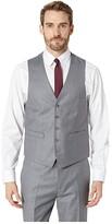 Kenneth Cole Reaction Techni-Cole Stretch Suit Separate Vest (Gunmetal Basket Weave) Men's Vest