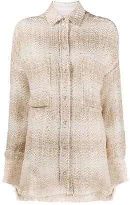 IRO Glenac oversized tweed shirt
