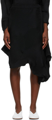 Issey Miyake Black Kone Kone Mid-Length Skirt