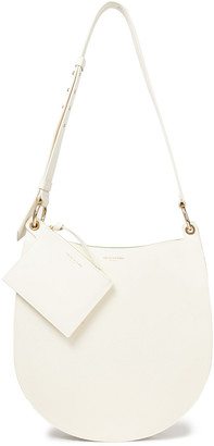 Sara Battaglia Rachele Pleated Smooth And Croc-effect Leather Shoulder Bag