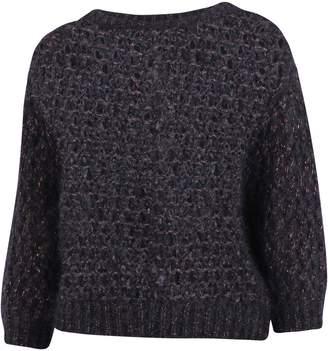 Brunello Cucinelli Open Knit Crewneck Pullover