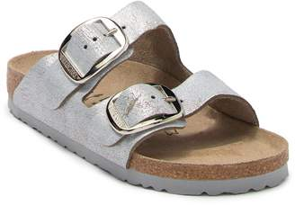 Birkenstock Arizona Distressed Metallic Leather Slide Sandal - Discontinued