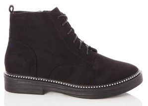 Dorothy Perkins Womens Quiz Black Studded Lace Up Ankle Boots, Black