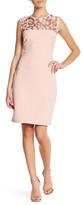 Marina Mesh Sequin Sleeveless Dress (Petite)