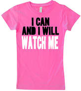 Micro Me Hot Pink 'I Can & I Will' Fitted Tee - Toddler & Girls