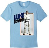 Star Wars Luke Skywalker Smiling Card Graphic T-Shirt