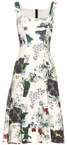 Erdem Tate Forget Me Not-print neoprene-jersey dress