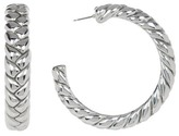 Simon Sebbag 41mm Sterling Silver Large Braided Hoop Earrings