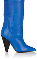 Isabel Marant Women's Lexing Leather Mid-Calf Boots-BLUE