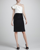 Carolina Herrera Bow-Shoulder Cocktail Dress