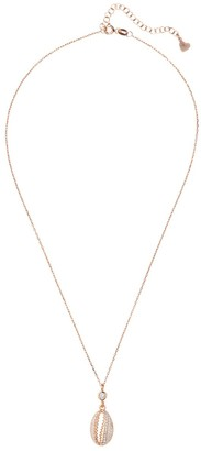 Latelita Cowie Shell Small Sparkling Pendant Necklace Rosegold