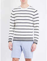 Tommy Hilfiger Hendriks Striped Knitted Cotton Jumper