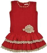 cesar blanco Red Ruffle Dress