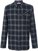 Givenchy zip detail checked shirt - men - Cotton - 39