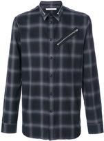 Givenchy zip detail checked shirt