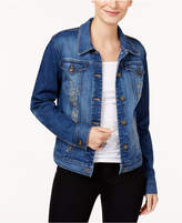 Style&Co. Style & Co Embroidered Denim Jacket, Only at Macy's