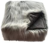Threshold Faux Fur Throw Blanket White