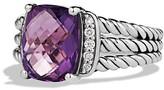 David Yurman Petite Wheaton Ring with Amethyst and Diamonds