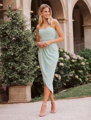 Forever New Whitney Sweetheart Drape Maxi Dress - Jade Mist - 4