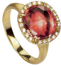 Marco Bicego Jaipur 18k Pink Tourmaline & Diamond Cocktail Ring