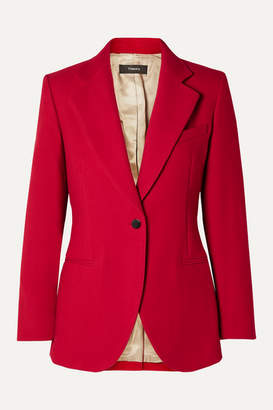Theory Cotton-twill Blazer - Red