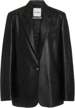 ATTICO Single-Breasted Leather Blazer