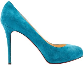 Christian Louboutin Simple pump Blue Suede Heels