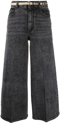 Stella McCartney Cropped Wide-Leg Jeans