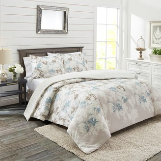 Marble Hill 3-piece Garden Party Reversible Comforter Set
