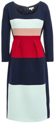 DELPOZO Color-block Wool-crepe Dress