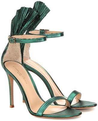 Gianvito Rossi Belvedere lame sandals