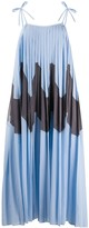 Jil Sander wave motif pleated dress