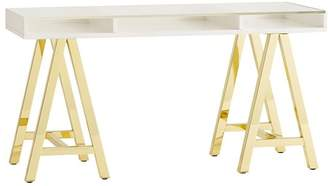 Pottery Barn Teen Customize It Acrylic A Frame Desk, Simply White/Gold Base