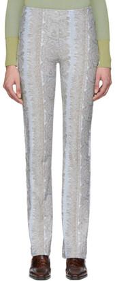 Acne Studios Blue Jacquard Trousers
