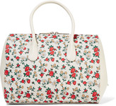 Nina Ricci Small floral-print canvas and leather tote