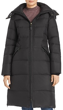 Cole Haan Faux Fur Trim Puffer Coat