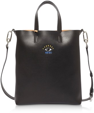 Kenzo Cut Out Leather Small Tote Bag