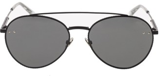 Bottega Veneta Unisex Black Aviator Sunglasses