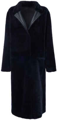 Liska Reversible Fur Long Coat
