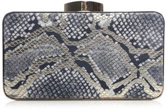 Moda In Pelle Dalahclutch White-Gold Snake Print