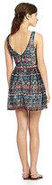 Sequin Hearts Tribal-Print Swing Dress