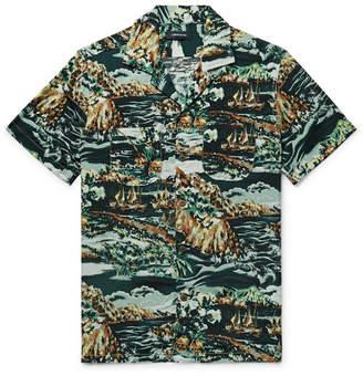 J.Crew Camp-Collar Printed Woven Shirt