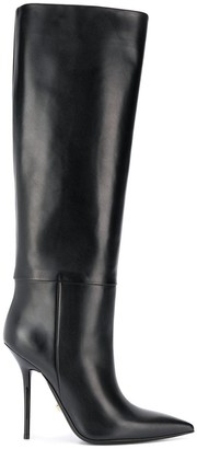 Versace Knee-High Stiletto Boots