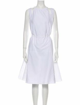Derek Lam Crew Neck Knee-Length Dress White